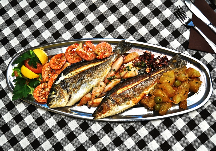 Fish plate PORTO for 2 persons